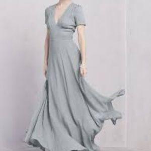 Reformation Claudette Dress in Cloud